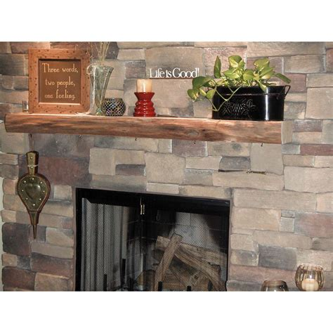 kettle moraine hardwoods clymer rustic fireplace mantel