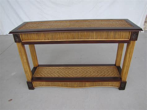 Outdoor Wicker Rattan Console Table Modern House Design Rattan Sofa Table