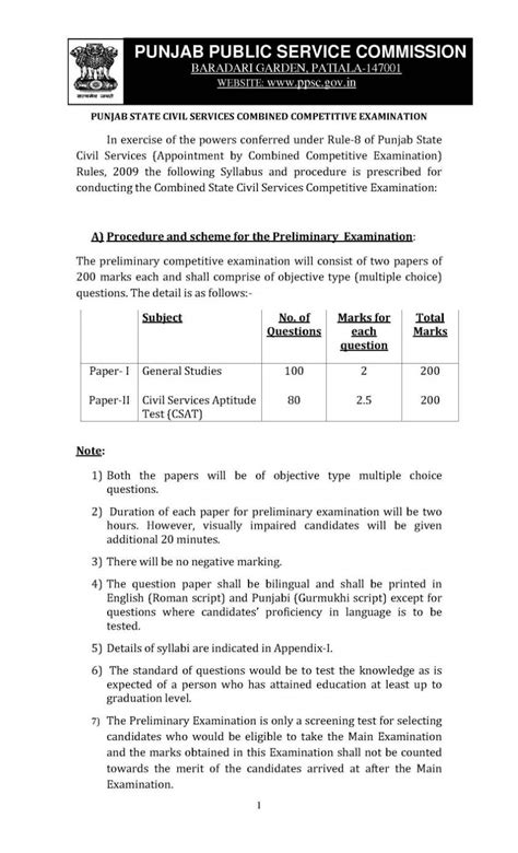 Mba Media And Entertainment Syllabus by Punjab Pcs Syllabus Pdf Mediagetbro