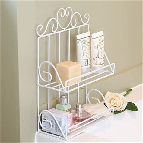 white wire two tier bathroom storage rack by dibor
