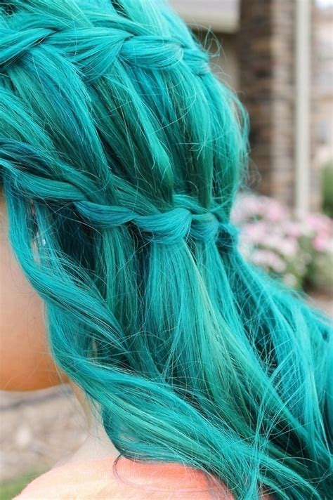 hair green blue aqua blue bright colored hair image 642559 on favim com