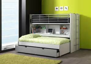 Twin Bunk Bed With Trundle Lit Superpose Gigogne