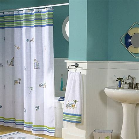 beachy shower curtains buy beach shower curtains from bed bath beyond