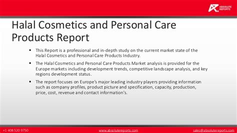 Halal And Cosmetics Products halal cosmetics and personal care products market in