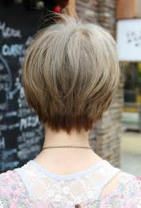 in back and in front hair long bob haircuts back view