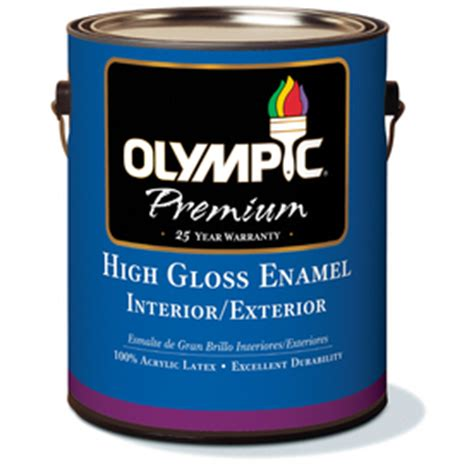 High Gloss Interior Paint by Shop Olympic White High Gloss Interior Exterior
