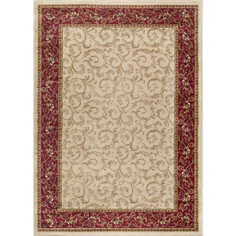 lowes area rugs 5 x 7 shop tayse elegance beige rectangular indoor machine made area rug common 5 x 7 actual 5 ft