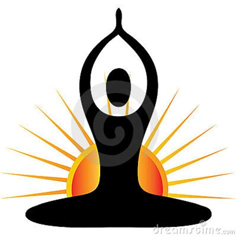 Yoga Figure With Sun Logo Royalty Free Stock Images ... Art Clipart Logo