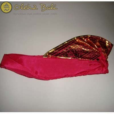 Udeng Poleng Bali Murah udeng prada pink polos oleh2bali kerajinan bali