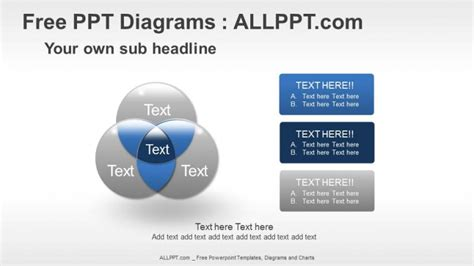 free powerpoint diagram templates venn diagrams relationship ppt diagrams free