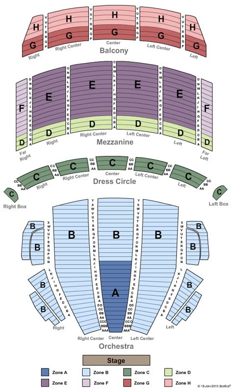 Tony Bennett Boston Opera House Tickets Tony Bennett Boston Opera House Seating Plan