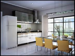 attractive Top Of Kitchen Cabinet Decorating Ideas #1: kitchen-ideas-white-acrylic-kitchen-cabinet-also-breakfast-table-set-and-modern-dining-chairs-in-open-small-kitchen-small-kitchen-ideas-with-smart-storage-solution-and-decorating.jpg