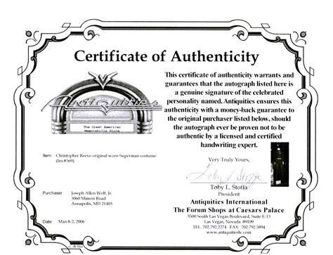 pin home certificate of authenticity template gallery also