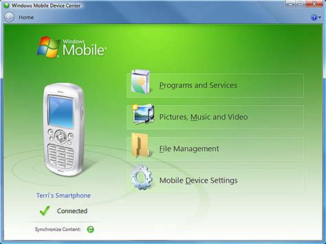 mobile center windows mobile device center for pocket pc