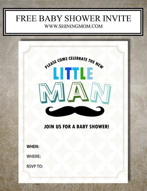 Free Printable Baby Shower Invite by All Free Baby Shower Invitations To Print