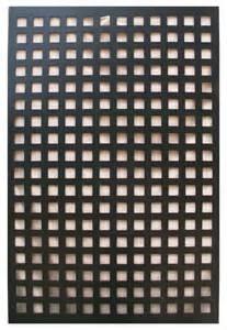 Square Trellis Privacy Panel Acurio Square Black Vinyl Lattice Decorative