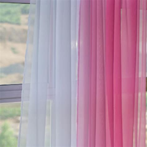 pink and white sheer curtains voile silk sheer curtains
