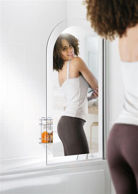 curved bathroom mirror lakes mirror curved bath screen 8mm leigh plumbing merchants