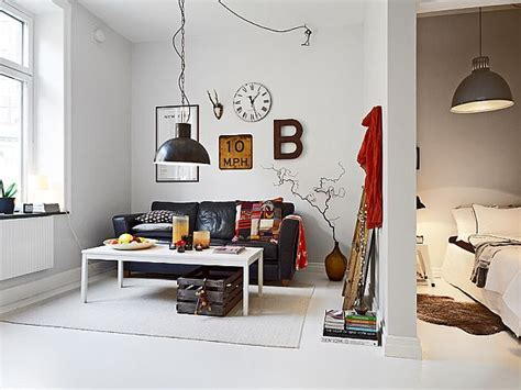 inspired apartment with industrial touches small nordic apartment with industrial touches