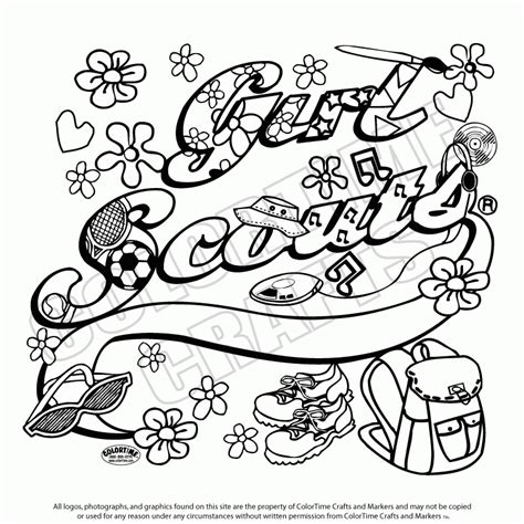 6 Pics Of Girl Scout Daisy Coloring Page Girl Scout Scout Petals Coloring Sheet Printable