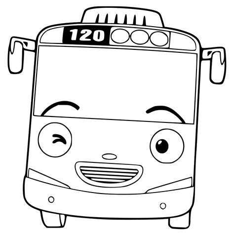 coloring page tayo tayo the little bus coloring pages