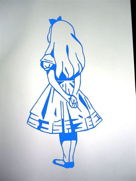alice tattoo id get the stencil like this in blue instead of