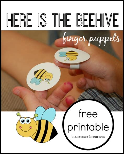 bee finger puppet template here is the beehive rhyme for with finger puppets