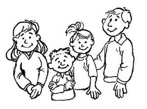 clipart black and white family clipart best