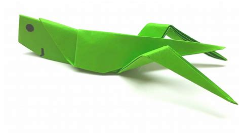 Origami Grasshopper - origami tutorial how to fold an easy origami grasshopper