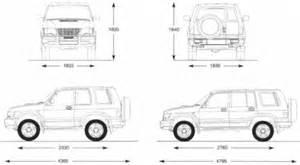 Isuzu Dimensions The Blueprints Blueprints Gt Cars Gt Isuzu Gt Isuzu Trooper