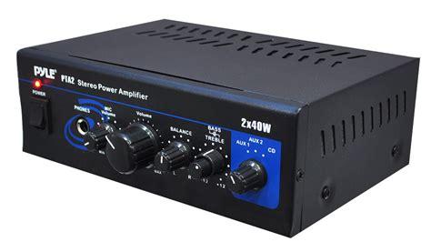Small Home Audio Lifier New Pyle Pta2 Mini Stereo Power Lifier 2 X 40 Watt