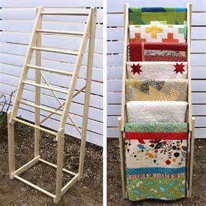 items similar to free standing quilt rack made of