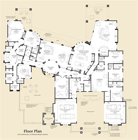 sle house floor plans villarica at saguaro estates luxury new homes in