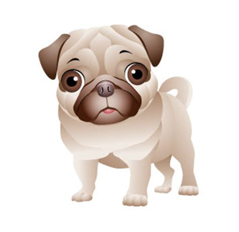 pug status create a illustration of a pug freelancer