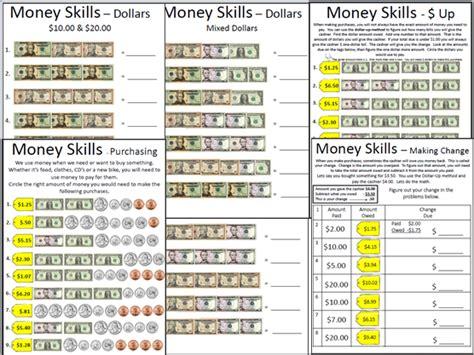 Money Skills Worksheets by Empowered By Them Money Skills