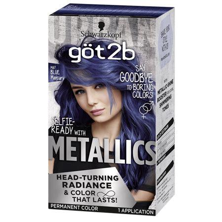 2b hair color got2b metallic permanent hair color blue mercury