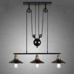 Hanging Light Fixtures Vintage Pulley Pendant Loft Ceiling Light Hanging L