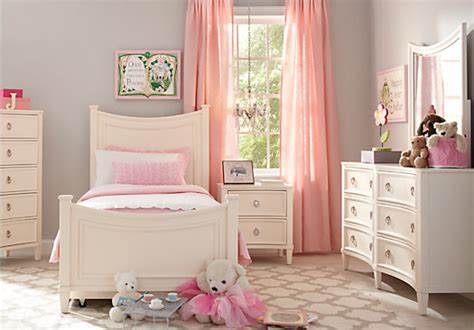 jaclyn place ivory  pc twin panel bedroom