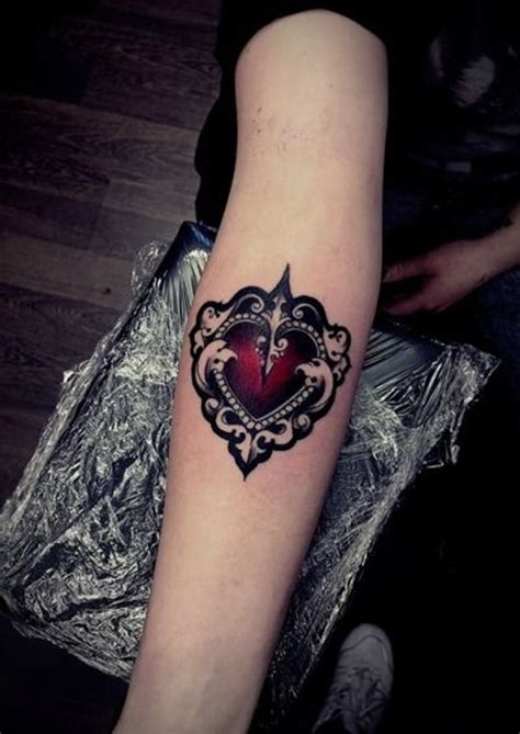 coloured heart tattoo designs tattoos