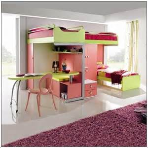 Bunk Beds For Girls With Desk by Girls Loft Bed With Desk Car Tuning