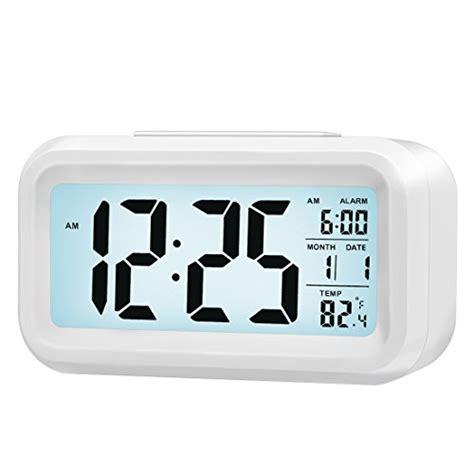 low light alarm clock zhpuat morning clock low light sensor technology light on