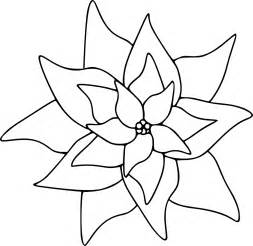 poinsettia coloring page poinsettia image for coloring clipart best clipart best