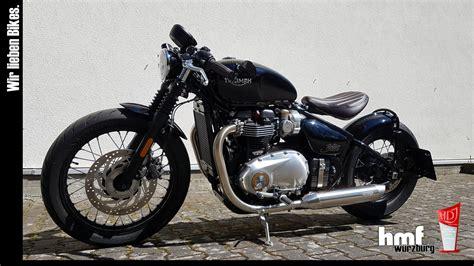 Triumph De Motorrad by Umgebautes Motorrad Triumph Bonneville Bobber Von Hmf
