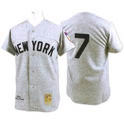 St Grey Mickey grey 1952 throwback mickey mantle authentic jersey s