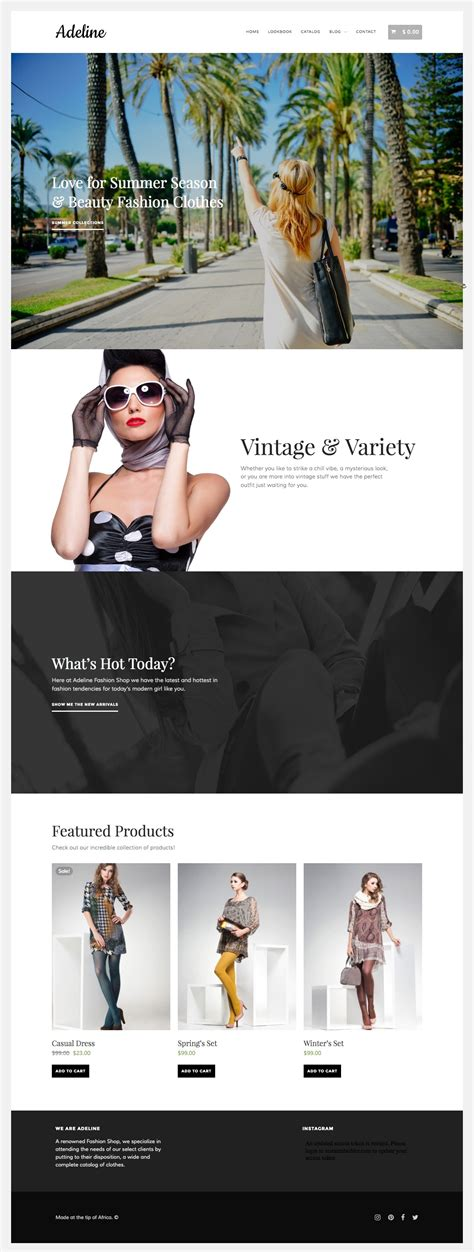 clothing themes for wordpress adeline wordpress theme for fashion clothing store