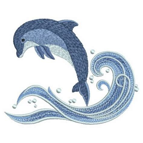 embroidery design dolphin ace points embroidery design dolphin in waves 2 99 inches