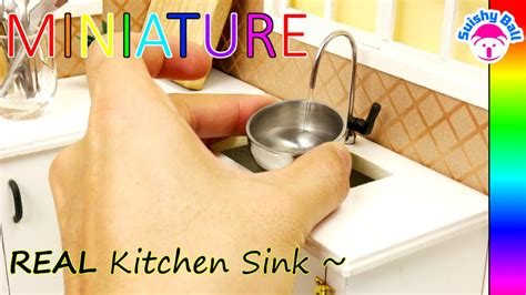 Real Working Miniature Kitchen by Miniature Real Working Kitchen Sink Faucet And Drain