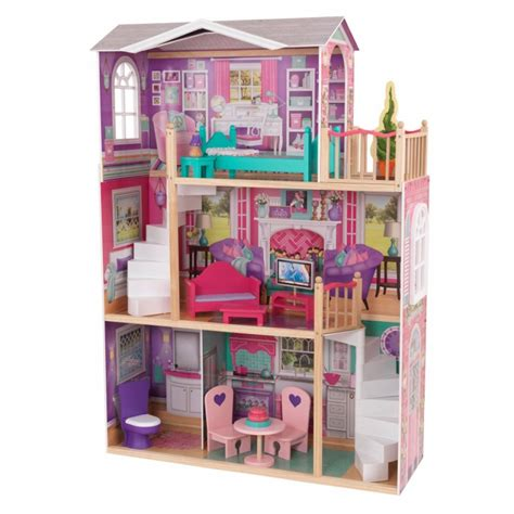 kidkraft 18 inch doll house 18 inch dollhouse doll manor