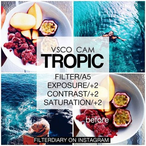tutorial efeito vsco vsco cam another tropical filter look best with