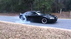 Blacked Out Mustang 2002 Mustang Gt Burnout Youtube